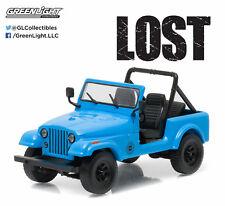 1/43 Greenlight Lost TV Series 1977 Jeep CJ7 Dharma Diecast Model Car 86309 Blue