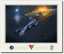 NIGHT ACTION OFF MINDORO by Jack Fellows - B-24 Liberator - Aviation Art Print