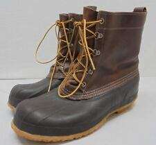 "Vintage LL Bean Maine Hunting Duck Waterproof Brown Boots Tall 8"" Mens Size 13 N"