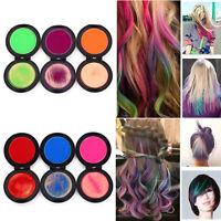 DIY 6 Farben Haar-Kreide-Pulver Temporäre Haarfarbe Farben Salon Kit Haarfarbe·