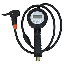 "Digital Car / Bicycle Tire Inflator / Deflator Pressure Gauge 48"" Long Hose"