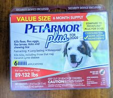 PetArmor Plus Flea and Tick Prevention for Dogs 89-132 lbs | 6-Month Supply