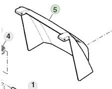 More details for genuine john deere walk behind lawn mower r43s sa1465 grass deflector sau12698