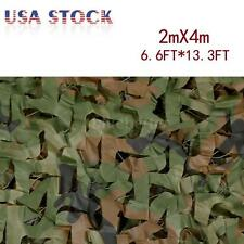 2X4M Woodland Camouflage Net Camo Netting Military Hunting w/ String Net Backing