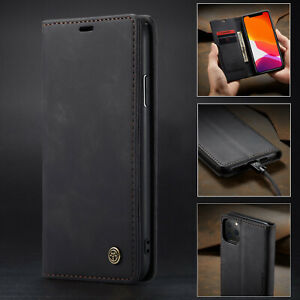 CaseMe Magnetic Leather Wallet Case iPhone 13 12 11 Xs XR Pro Max Mini SE 8 7 6+