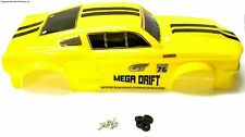 302482 1/10 Scale Nitro On Road Car Body Cover Shell Yellow