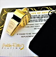 24K Gold Plated Acme Thunderer 60.5 Professional Football Rugby Referee Whistle