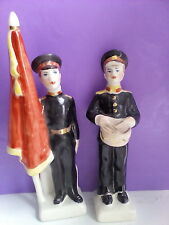 "Russian porcelain figurines. Soviet boy military Cadets ""Suvorovzzi"".  u"