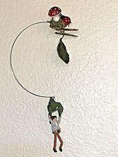 John McRae Seasons Cannon Falls Clip on Gnome Elf w/ Leaf Parachute Ornament