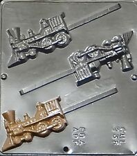 FREE SHIP NEW 3 Cav Locomotive Engine TRAIN Chocolate Candy Fondant Lolly Mold