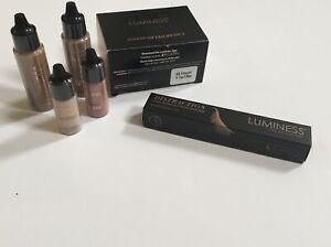 SEALED Starter Kit Luminess Airbrush Cosmetics- Tan & DISTRACTION Mascara Black