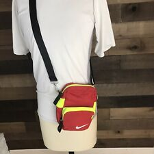 Vintage Nike 1980s Over Shoulder Small Bag Rare Red Yellow