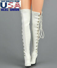 1/6 Women Over The Knee High Heel Boots For Phicen Hot Toys Female Figure U.S.A.