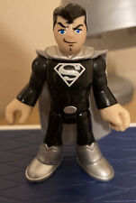 Fisher-Price Imaginext SUPERMAN Black and Silver Figure DC Super Friends