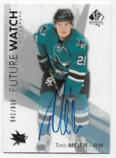 16/17 SP AUTHENTIC FUTURE WATCH AUTOGRAPH RC #166 Timo Meier #941/999