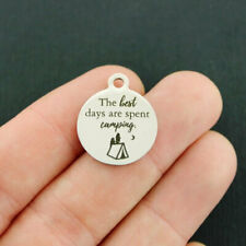 Camping Stainless Steel Charms - The best days are spent - Bfs4434