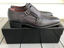 NIB MAGNANNI double monk strap dress shoes Grey Sz 42 EU 9D USA $545