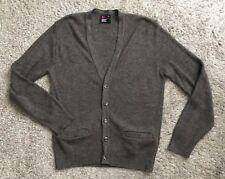 ROBERT BRUCE Mens Size Medium Brown Blue Speckled Cardigan Sweater Long Sleeve