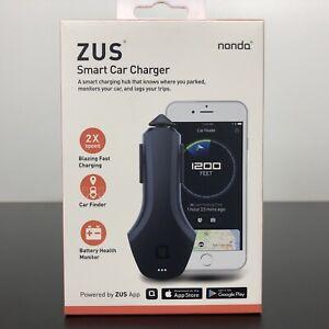 ZUS Smart Car Hub Dual USB Car Charger & Smart Car Locator Nonda NEW & SEALED