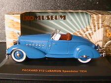 PACKARD V12 LEBARON SPEEDSTER 1934 BLUE IXO MUS043 1/43 BLEU BLAU MUSEUM