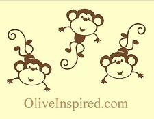 No More Monkeys Jumping on the Bed Nursery or Kids Art Decor Vinyl Wall Decal