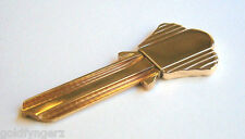 Vintage....10K Yellow Gold & Brass, Blank House Key...Made by ...Birks & Co.