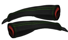 GREEN STITCH FITS CORVETTE C5 Z06 97-04 2X SEAT BELT STALK LEATHER COVERS ONLY