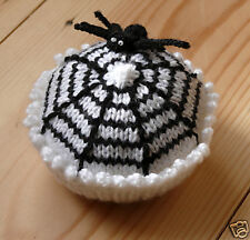 KNIT CUPCAKES - PATTERN for Spider cupcake spider web!