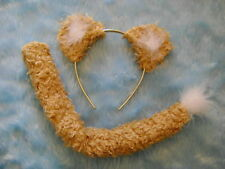 Lion Ears & Tail Soft Gold Fancy Dress Kids & Adults Unisex One Size Costume Set