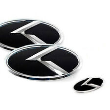 3D K Logo Front Trunk Steering Wheel Emblem 3p For 2010-2013 Kia Forte Koup