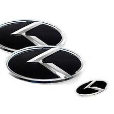 3D K Logo Front Trunk Steering Wheel Emblem 3p for 2010 2013 Kia Forte Koup