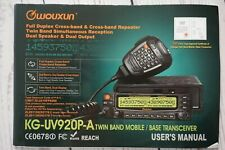 Wouxun KG-UV920P-A-220 Dual Band Base Receiver/Mobile Two Way Radio           #O
