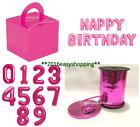HOT PINK FOIL BALLOONS CAKE BOX BALOON WEIGHT HAPPY BIRTHDAY FOIL BALLON BALON