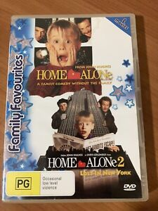 HOME ALONE & HOME ALONE 2 LOST IN NEW YORK KIDS FAMILY FAVOURITES DVD MOVIE PACK