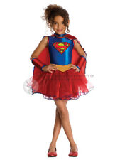 Child Supergirl Tutu Outfit Fancy Dress Costume Superheroine Superman Girls BN