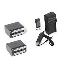 TWO 2x Batteries + Charger for Canon XF305 XL-1 XL-1S XL-2 XH-A1 XH-A1S XHG1