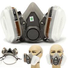 Gaz Poussière Masque Filtre Respirateur 3m 6200 Peinture Aérosol Demi Visage WWT
