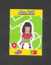 Dunkin Crazy Football 1998 Pop Up card #4  Couto of Portugal