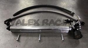 B Series Fuel System Silver Blackworks BWR Rail, Black Regulator for Honda Acura