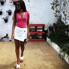Zara Pink Frilled V Neck Top Size MEDIUM BNWT