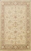 Vegetable Dye Floral Peshawar Oriental Area Rug Hand-knotted Wool Carpet 9x12 ft