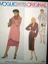 Vogue Paris Original Pattern 2252 Nina Ricci