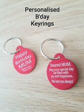 $3.80!! Personalised Birthday Gift, ROUND tag keyring, FREE Laser Engrave & Post