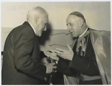 Italia, missione del medico, M. Tamponi, Arciv. G. Colombo Vintage silver print