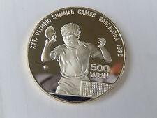 500 Won Korea 1990 Olympische  Spiele1992 Barcelona Silber PP