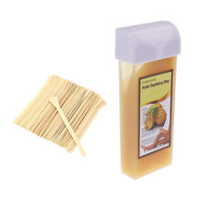 Lemon Hair Removal Roller Depilatory Wax with 50 Wood Stick Applicators Kit