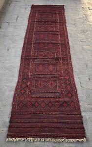 2'6 x 11'10 Handmade vintage afghan adraskan kilim runner rug, Tribal rug runner