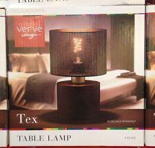 VERVE DESIGN TEX TABLE DESK LIGHT LAMP METAL MESH CIRCULAR E27 BLACK ATL002