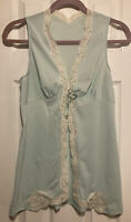 Vintage Vanity Fair Mint Lace Babydoll Size Small