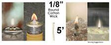 1/8 Round Cotton Wick 5' Kerosene Lantern Lamp Tiki Rock Candle Wick USA Seller